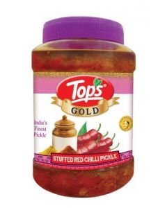 Tops Stuffed Red Chilli Pickle (Gold)  950 Gm